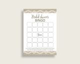 Bingo Bridal Shower Bingo Burlap And Lace Bridal Shower Bingo Bridal Shower Burlap And Lace Bingo Brown White party decorations NR0BX