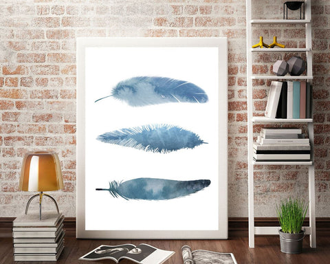 Wall Art Aquarelle Digital Print Aquarelle Poster Art Aquarelle Wall Art Print Aquarelle  Wall Decor Aquarelle watercolor feathers - Digital Download