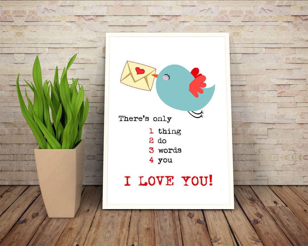 Wall Art Letter Digital Print I Love You Poster Art Letter Wall Art Print I Love You Love Art I Love You Love Print Letter Wall Decor Letter - Digital Download