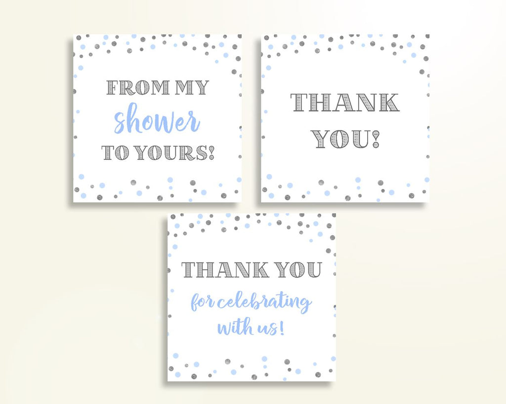 Thank You Tags Baby Shower Thank You Tags Blue And Silver Baby Shower Thank You Tags Blue Silver Baby Shower Blue And Silver Thank You OV5UG - Digital Product