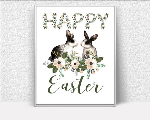 Wall Art Easter Bunny Digital Print Easter Bunny Poster Art Easter Bunny Wall Art Print Easter Bunny Easter Art Easter Bunny Easter Print - Digital Download