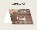 Food Tent Bridal Shower Food Tent Rustic Bridal Shower Food Tent Bridal Shower Flowers Food Tent Brown Beige shower activity prints SC4GE