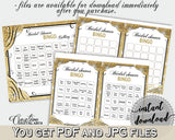 Bingo 60 Cards in Glittering Gold Bridal Shower Gold And Yellow Theme, festivity, gold shine, shower activity, party theme, prints - JTD7P - Digital Product