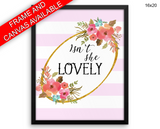 Isn't She Lovely Print, Beautiful Wall Art with Frame and Canvas options available Quote Decor