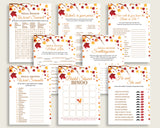 Games Bridal Shower Games Fall Bridal Shower Games Bridal Shower Autumn Games Brown Yellow digital print printables pdf jpg YCZ2S