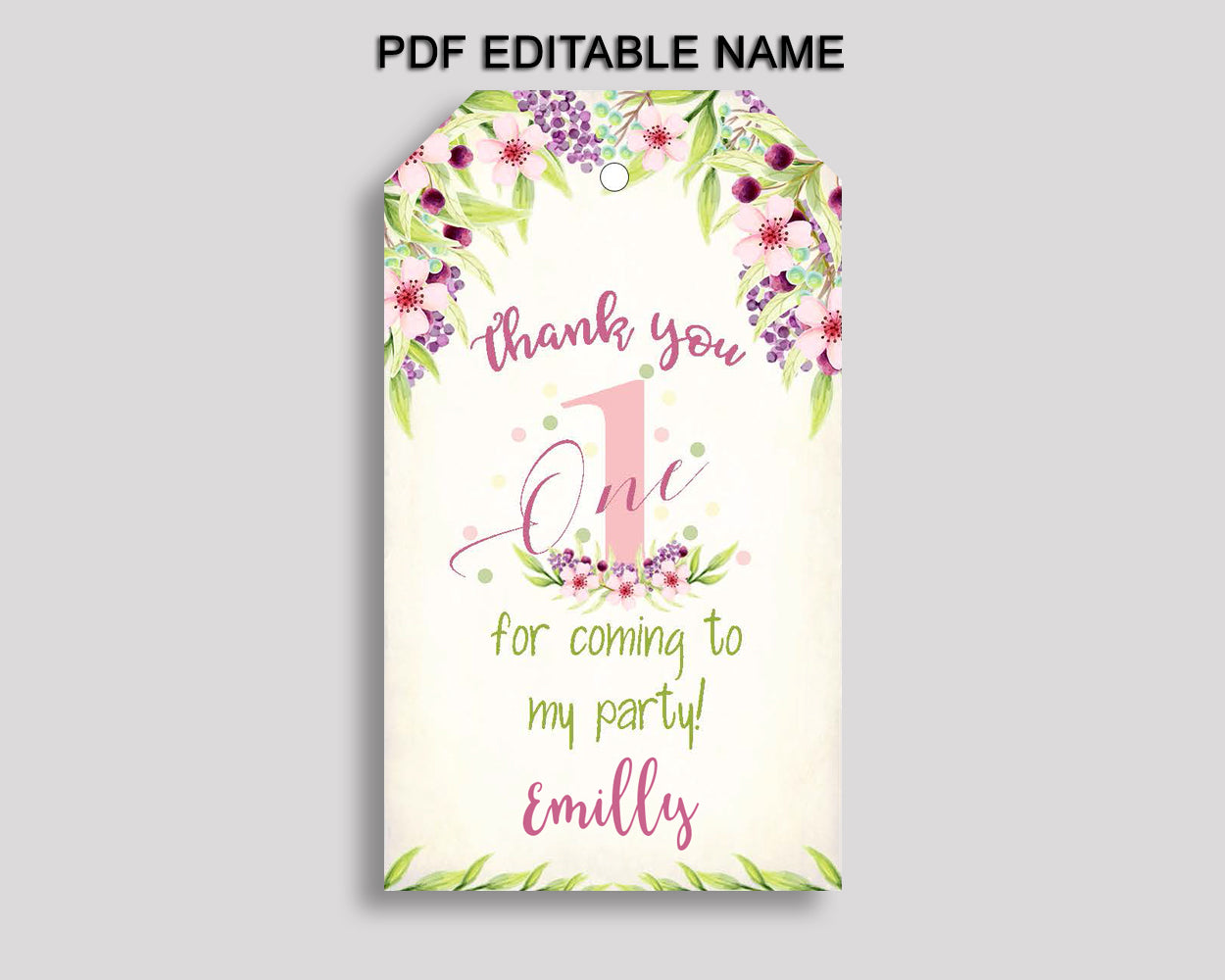First Gift Favor Tags Pink Green Birthday Favor Tags First Gift Tags First Party Gift Tags Girl KAF9O