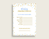 Baby Predictions Baby Shower Baby Predictions Confetti Baby Shower Baby Predictions Blue Gold Baby Shower Confetti Baby Predictions cb001