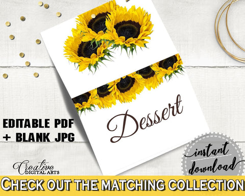 Food Tent Bridal Shower Food Tent Sunflower Bridal Shower Food Tent Bridal Shower Sunflower Food Tent Yellow White party plan, pdf SSNP1 - Digital Product