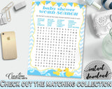 Baby Shower Farm Yellow Rubber Duck Smiles Crosswords WORD SEARCH, Prints, Digital Download, Baby Shower Idea - rd002 - Digital Product
