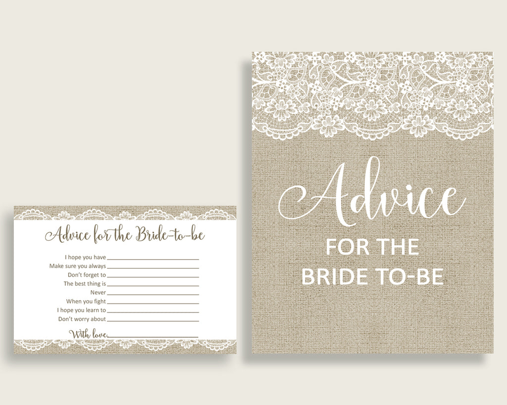 Advice Cards Bridal Shower Advice Cards Burlap And Lace Bridal Shower Advice Cards Bridal Shower Burlap And Lace Advice Cards Brown NR0BX