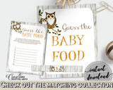 Baby Food Guessing Baby Shower Baby Food Guessing Owl Baby Shower Baby Food Guessing Baby Shower Owl Baby Food Guessing Gray Brown 9PUAC - Digital Product