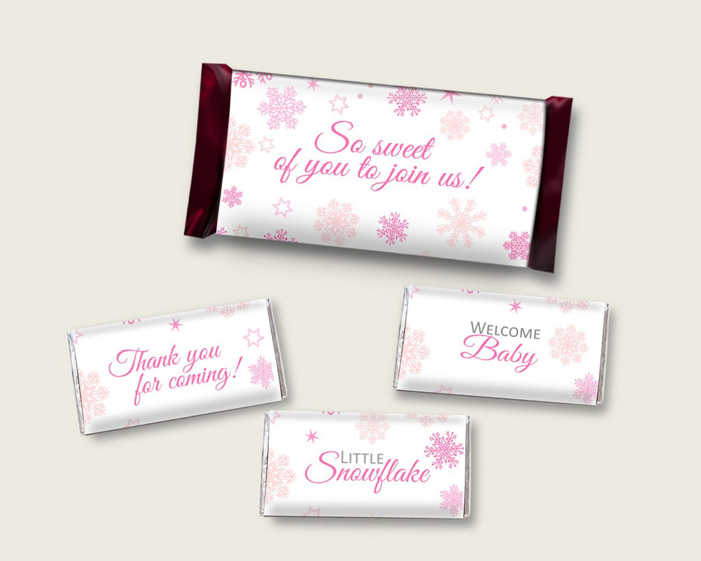 Candy Wrappers Baby Shower Hershey Wrappers Winter Baby Shower Candy