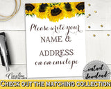 Addressing Sign Bridal Shower Addressing Sign Sunflower Bridal Shower Addressing Sign Bridal Shower Sunflower Addressing Sign Yellow SSNP1 - Digital Product