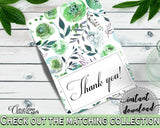 Thank You Card Bridal Shower Thank You Card Botanic Watercolor Bridal Shower Thank You Card Bridal Shower Botanic Watercolor Thank You 1LIZN - Digital Product