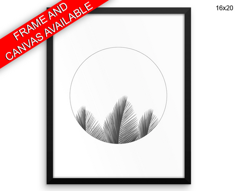 Palm Leaves Print, Beautiful Wall Art with Frame and Canvas options available Minimalist Decor