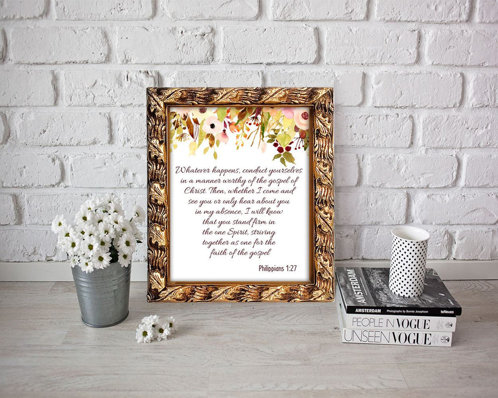 Wall Decor Philippians Printable Philippians Prints Philippians Sign Philippians Scripture Art Philippians Scripture Print Philippians - Digital Download