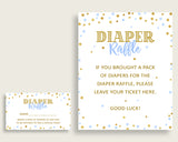 Diaper Raffle Baby Shower Diaper Raffle Confetti Baby Shower Diaper Raffle Blue Gold Baby Shower Confetti Diaper Raffle party theme cb001