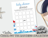 Bingo Gift Game Baby Shower Bingo Gift Game Nautical Baby Shower Bingo Gift Game Baby Shower Nautical Bingo Gift Game Blue Red digital DHTQT - Digital Product
