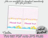 Thank You Card Baby Shower Thank You Card Rubber Duck Baby Shower Thank You Card Baby Shower Rubber Duck Thank You Card Purple Pink rd001