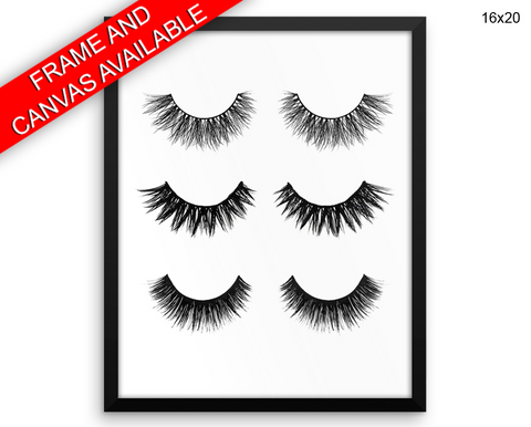 Eyelashes Print, Beautiful Wall Art with Frame and Canvas options available Beauty Decor