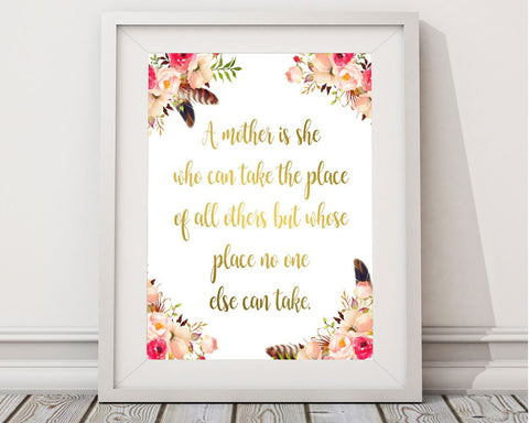 Wall Decor Mother Printable Mother Prints Mother Sign Mother Mom Art Mother Mom Print Mother Printable Art Mother mothers day red pink - Digital Download