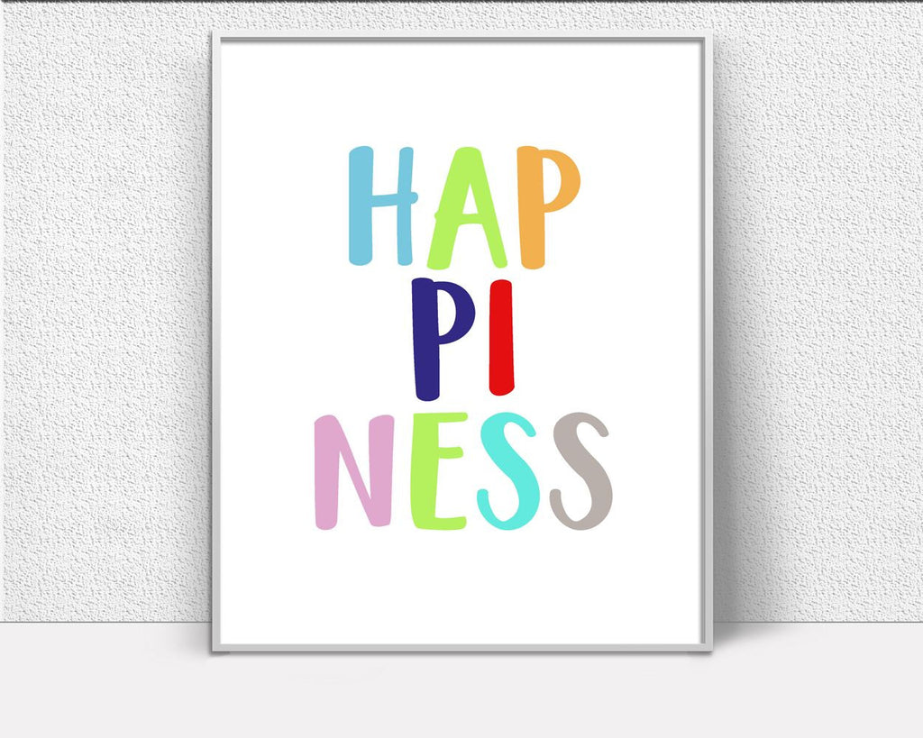 Wall Art Happiness Digital Print Happiness Poster Art Happiness Wall Art Print Happiness Nursery Art Happiness Nursery Print Happiness Wall - Digital Download