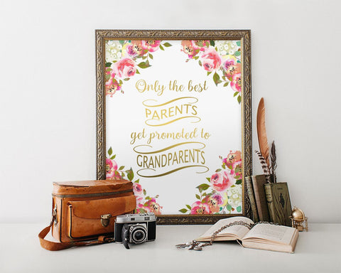 Wall Art Only The Best Parents Get Promoted To Grandparents Digital Print Only The Best Parents Get Promoted To Grandparents Poster Art Only - Digital Download