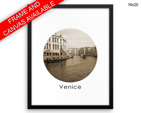 Venice Italy Print, Beautiful Wall Art with Frame and Canvas options available City Decor