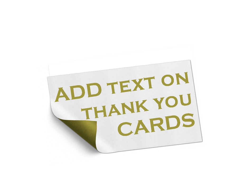 Add On listing only for edit name and text on Thank You card - digital file