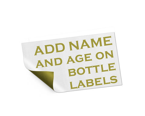 Add On listing only for edit name and age on bottle labels - digital file
