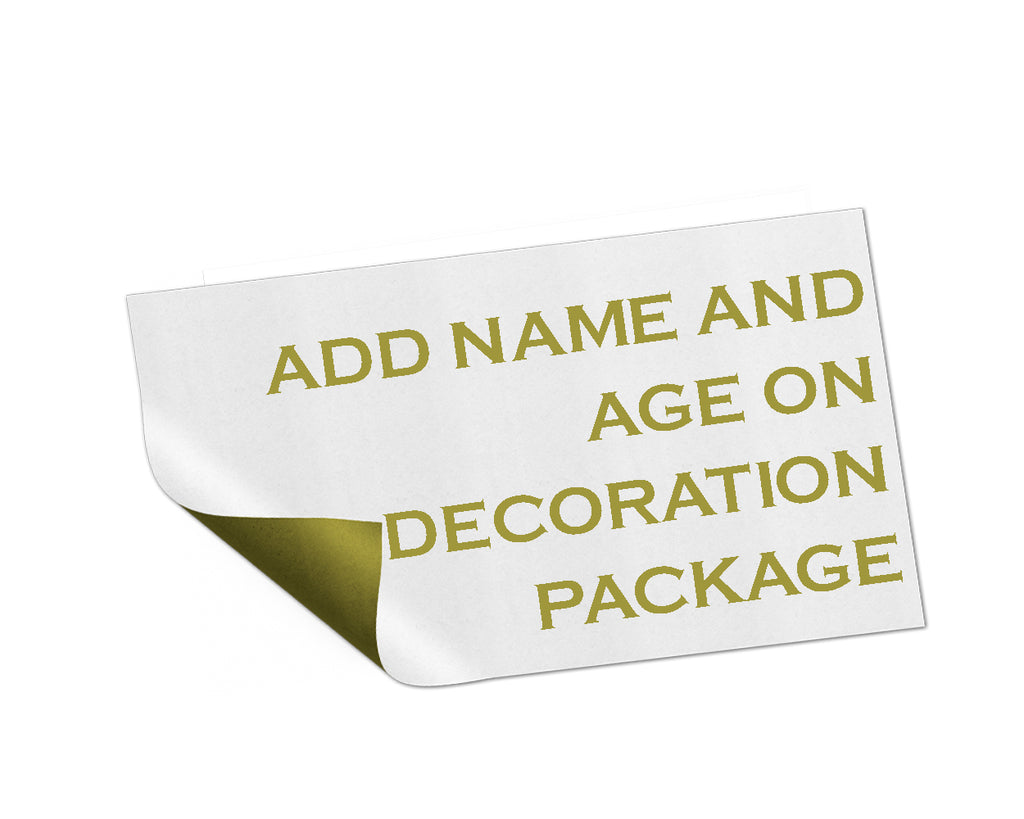 Add On listing only for edit name, age, date and thank you card text for decoration package - digital file