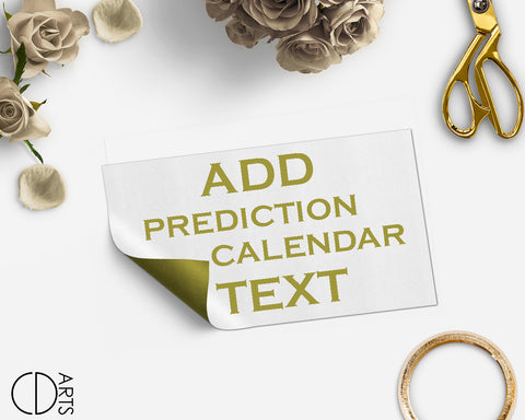Add On listing only for edit Baby Due Date Calendar text - digital file