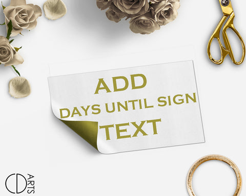 Add On link only for edit Days Until sign text - digital file