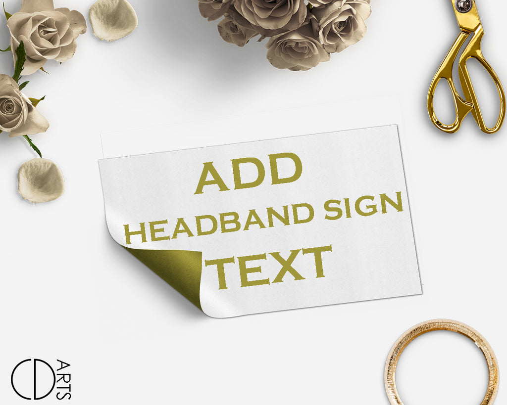 Add On link only for edit Headband sign text - digital file