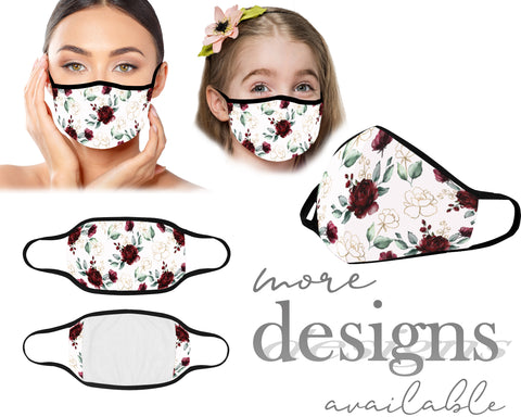 Women Face Mask, Children Face Mask, Washable and Reusable Mouth Mask, Anti Dust With Filter Pocket, Floral Pattern Mask, Unisex Mask