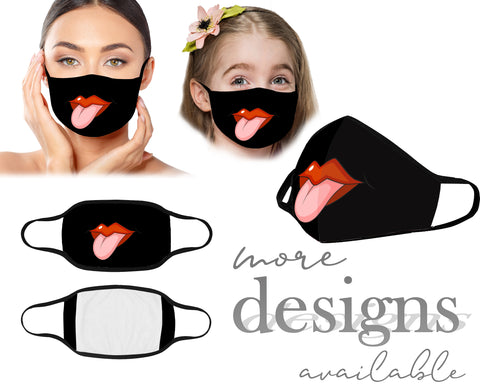 Funny Mouth Mask, Tongue Face Mask, Reusable Washable Mask, Dust Mask, Kids Mask, Adult Mask, Children Mask With Filter Pocket, Cartoon