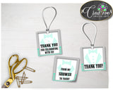 Baby shower little man THANK YOU favor tags gentleman printable mint green gray boy theme, digital files, Jpg Pdf, instant download - lm001