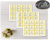 Baby shower THANK YOU favor tags printable with yellow bees for boys and girls, digital files, instant download - bee01