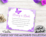 Bring A Book Baby Shower Bring A Book Butterfly Baby Shower Bring A Book Baby Shower Butterfly Bring A Book Purple Pink party ideas 7AANK - Digital Product