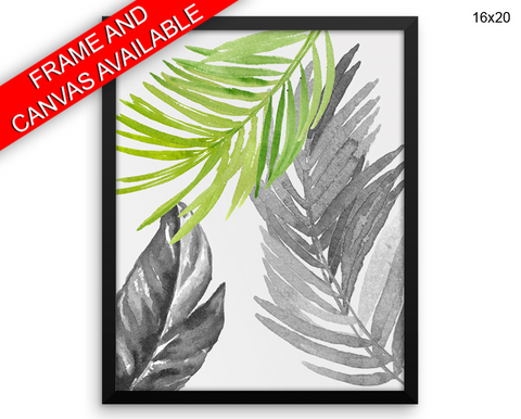 Watercolor Leaves Print, Beautiful Wall Art with Frame and Canvas options available  Decor