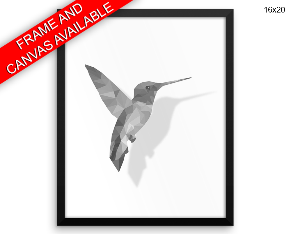 Bird Print, Beautiful Wall Art with Frame and Canvas options available Low Poly Decor