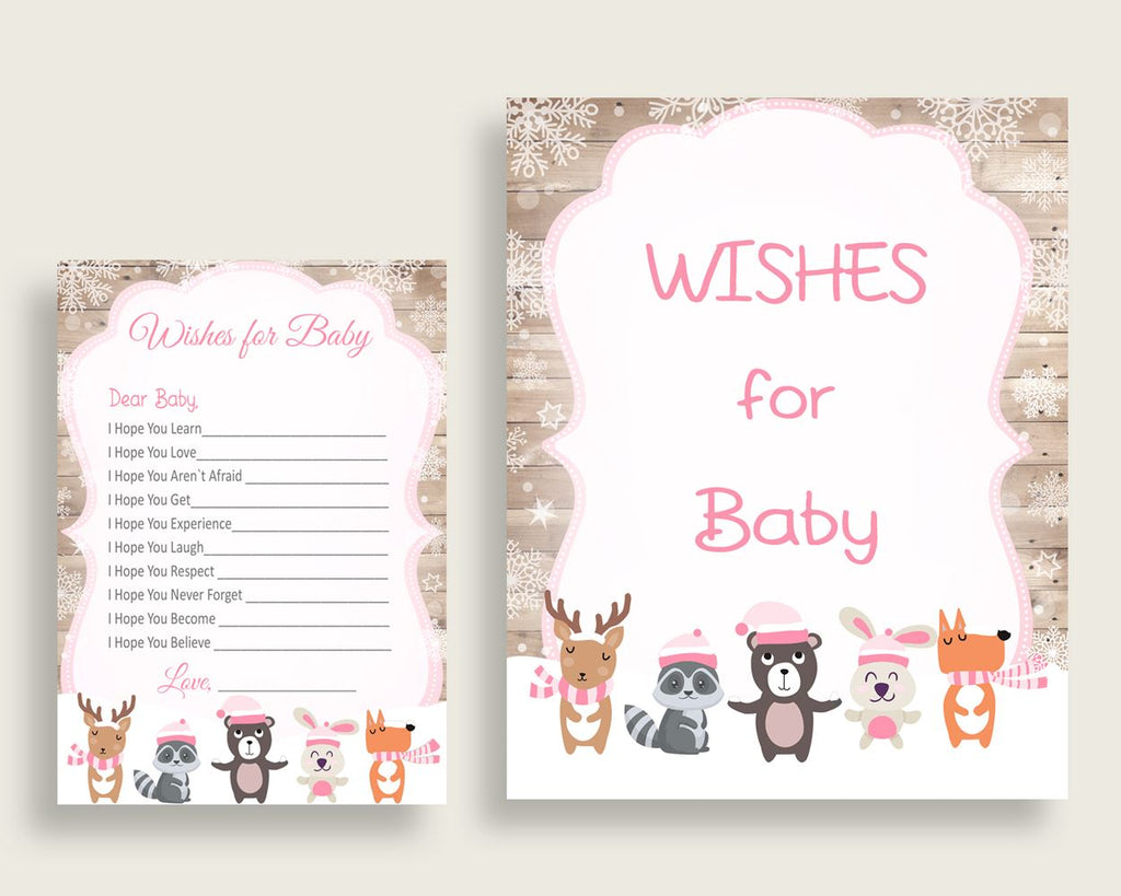 Wishes For Baby Baby Shower Wishes For Baby Forest Girl Baby Shower