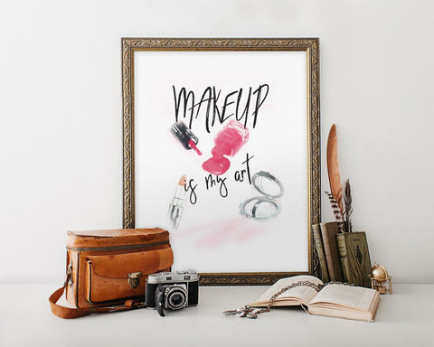 Makeup Prints Wall Art Makeup Digital Download Makeup Fashion Art Makeup Fashion Print Makeup Instant Download Makeup Frame And Canvas - Digital Download