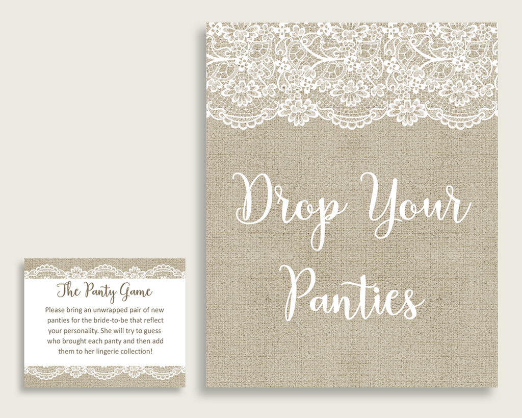 Drop Your Panties Bridal Shower Drop Your Panties Burlap And Lace Bridal Shower Drop Your Panties Bridal Shower Burlap And Lace Drop NR0BX