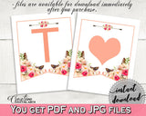 Banner in Bohemian Flowers Bridal Shower Pink And Red Theme, all letters alphabet, stylish bridal, party planning, party stuff - 06D7T - Digital Product