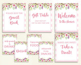 Table Signs Baby Shower Table Signs Pink Baby Shower Table Signs Baby Shower Flowers Table Signs Pink Green prints party stuff 5RQAG - Digital Product