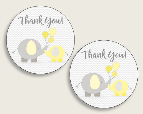 Favor Tags Baby Shower Favor Tags Yellow Baby Shower Favor Tags Baby Shower Elephant Favor Tags Yellow Gray party plan prints party W6ZPZ