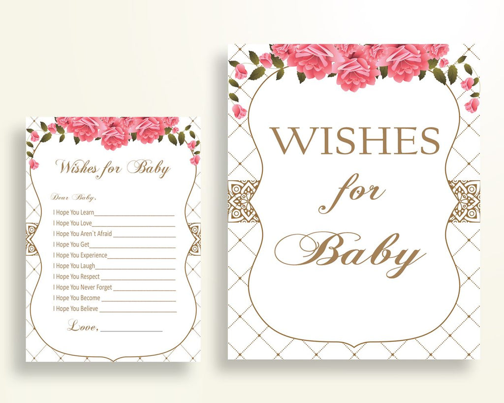 Wishes For Baby Baby Shower Wishes For Baby Roses Baby Shower Wishes For Baby Baby Shower Roses Wishes For Baby Pink White prints U3FPX - Digital Product