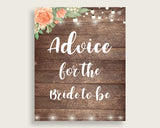 Advice Cards Bridal Shower Advice Cards Rustic Bridal Shower Advice Cards Bridal Shower Flowers Advice Cards Brown Beige party decor SC4GE