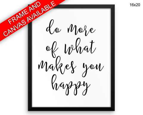 Happy Print, Beautiful Wall Art with Frame and Canvas options available Inspiring Decor